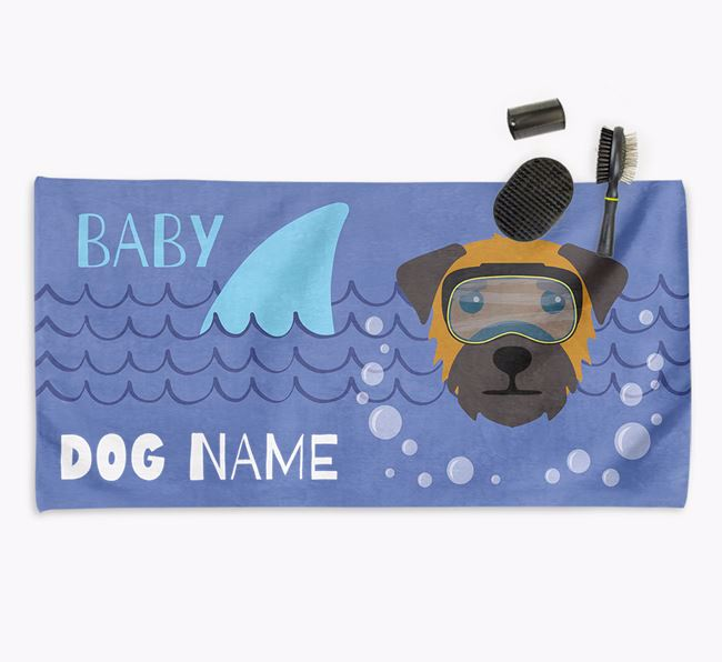 'Baby Shark' Personalized Towel for your Border Terrier
