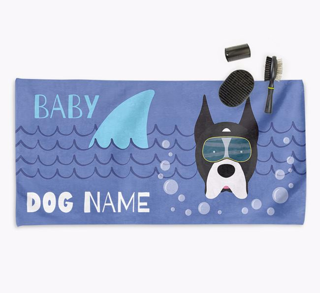 'Baby Shark' Personalized Towel for your Boxer