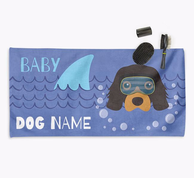 'Baby Shark' Personalized Towel for your Cavalier King Charles