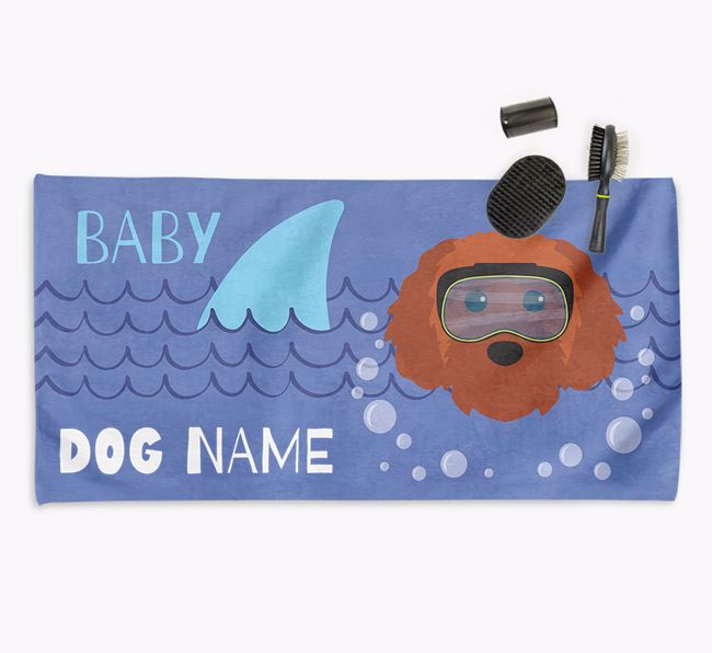 'Baby Shark' Personalized Towel for your Cavapoochon