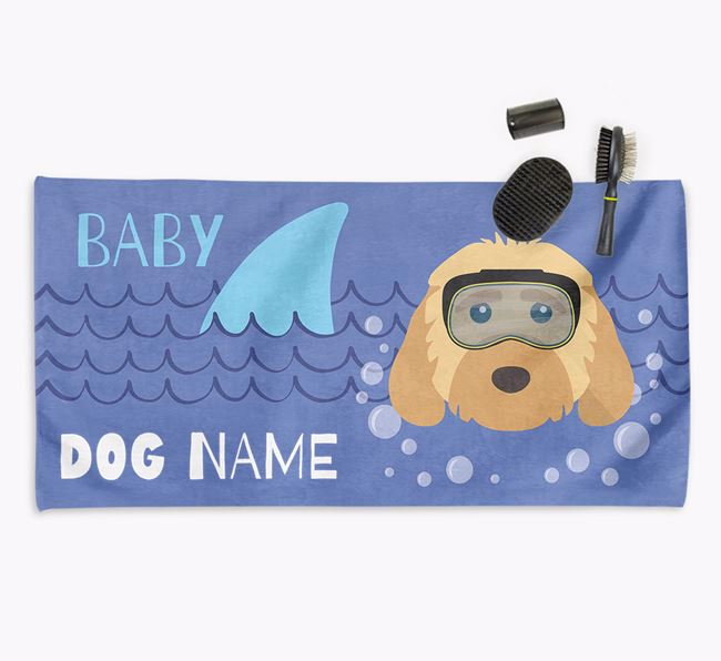 'Baby Shark' Personalized Towel for your Cockapoo