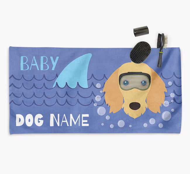 'Baby Shark' Personalized Towel for your Dachshund