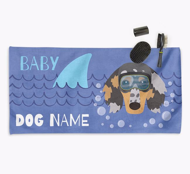 'Baby Shark' Personalised Towel for your Dachshund