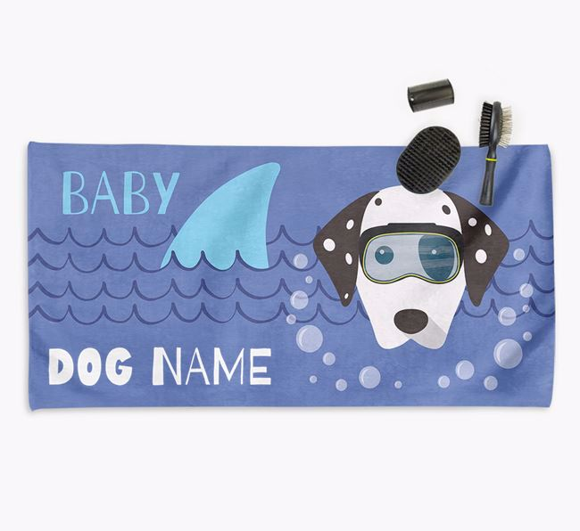 'Baby Shark' Personalized Towel for your Dalmatian