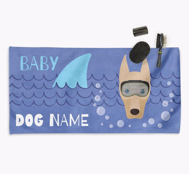 'Baby Shark' Personalized Towel for your Dobermann