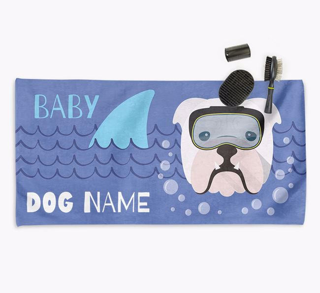 'Baby Shark' Personalized Towel for your Bulldog