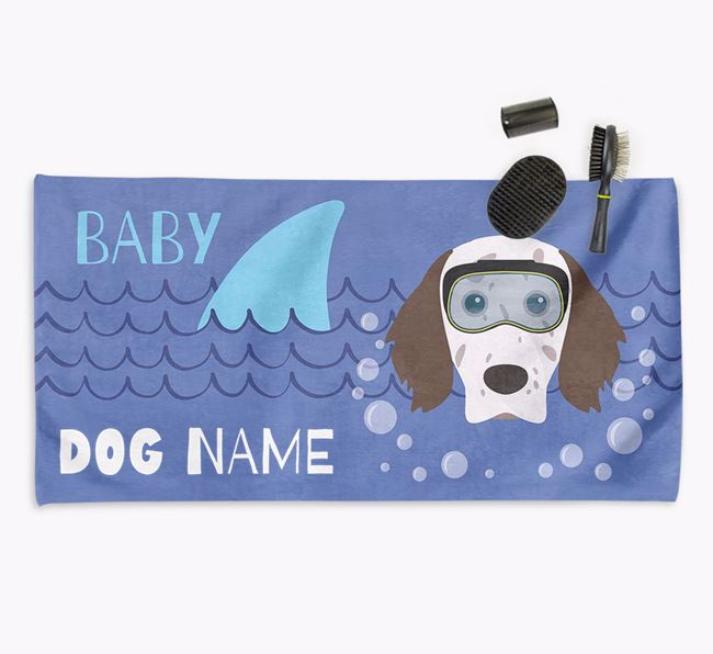 'Baby Shark' Personalized Towel for your English Setter