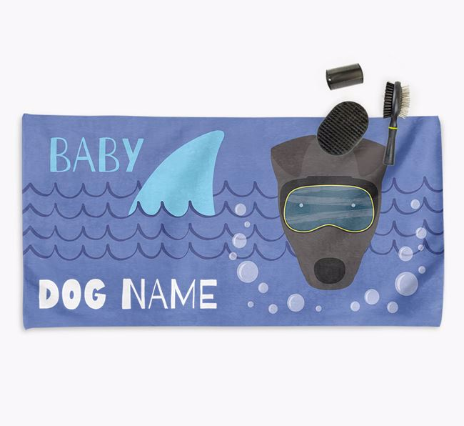 'Baby Shark' Personalized Towel for your Fox Terrier