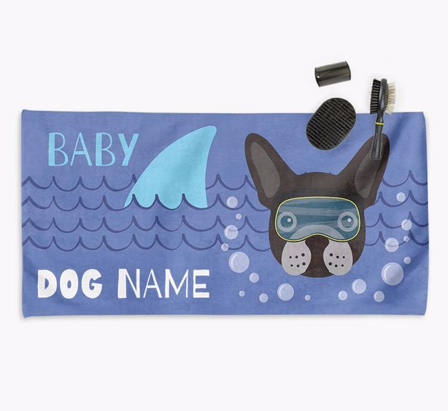 'Baby Shark' Personalized Towel for your Frenchie