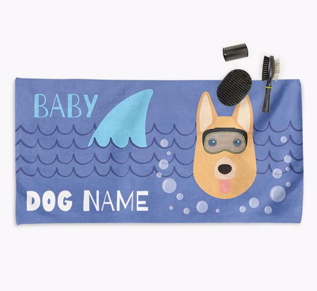 'Baby Shark' Personalized Towel for your German Shepherd