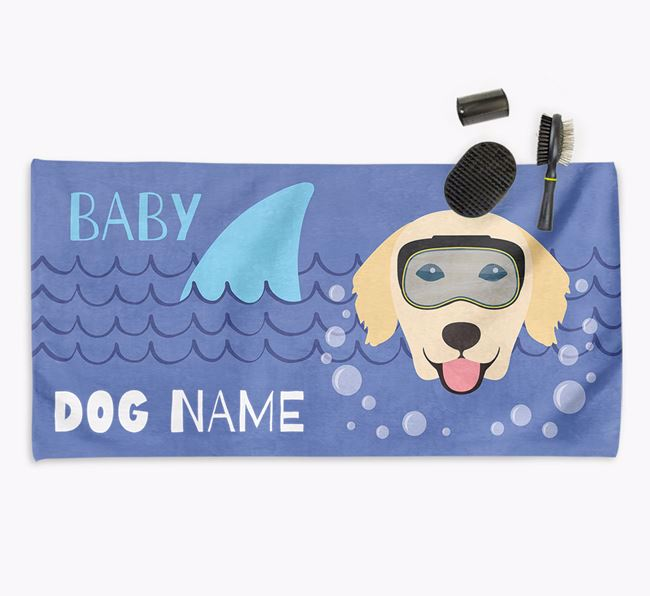 'Baby Shark' Personalized Towel for your Golden Retriever