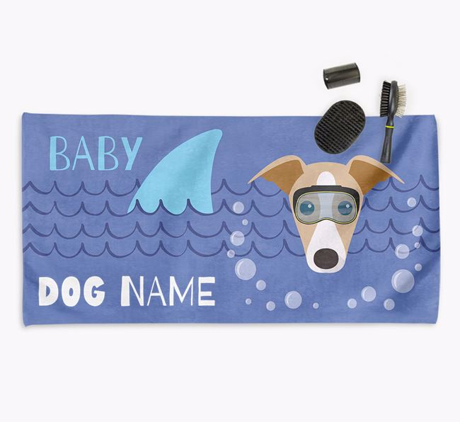 'Baby Shark' Personalised Towel for your Greyhound