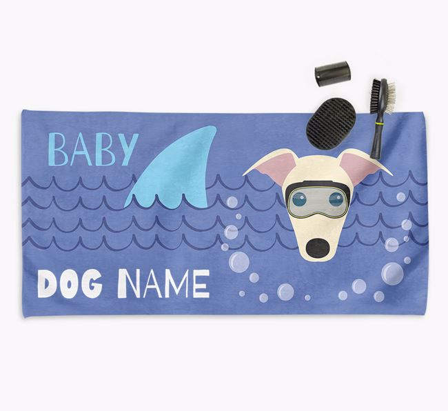 'Baby Shark' Personalized Towel for your Greyhound