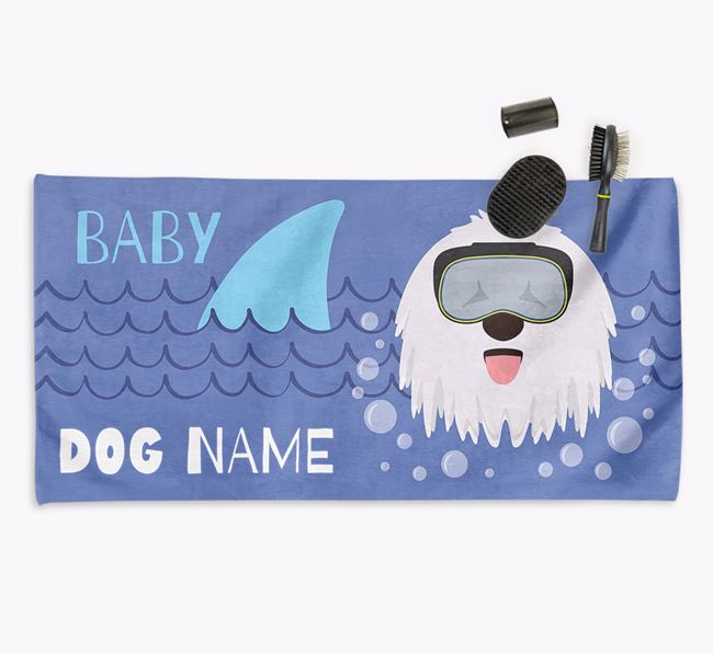 'Baby Shark' Personalized Towel for your Komondor