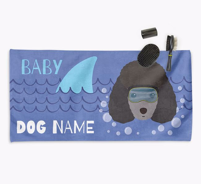'Baby Shark' Personalized Towel for your Miniature Poodle