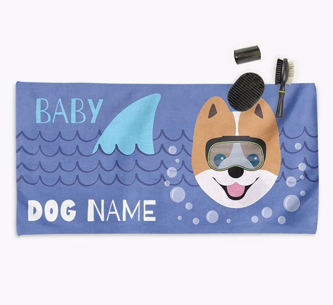 'Baby Shark' Personalised Towel for your Pomeranian