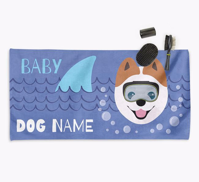 'Baby Shark' Personalized Towel for your Pomeranian