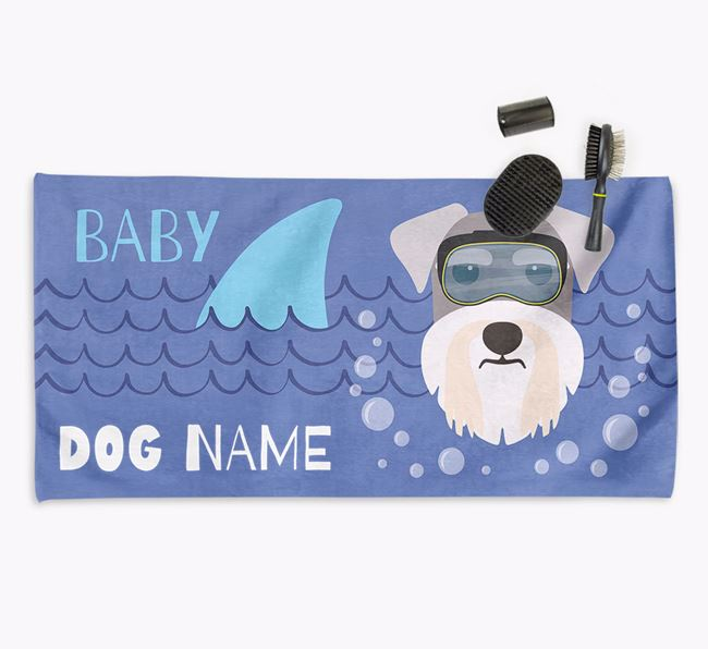 'Baby Shark' Personalised Towel for your Schnauzer