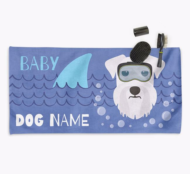 'Baby Shark' Personalized Towel for your Schnauzer