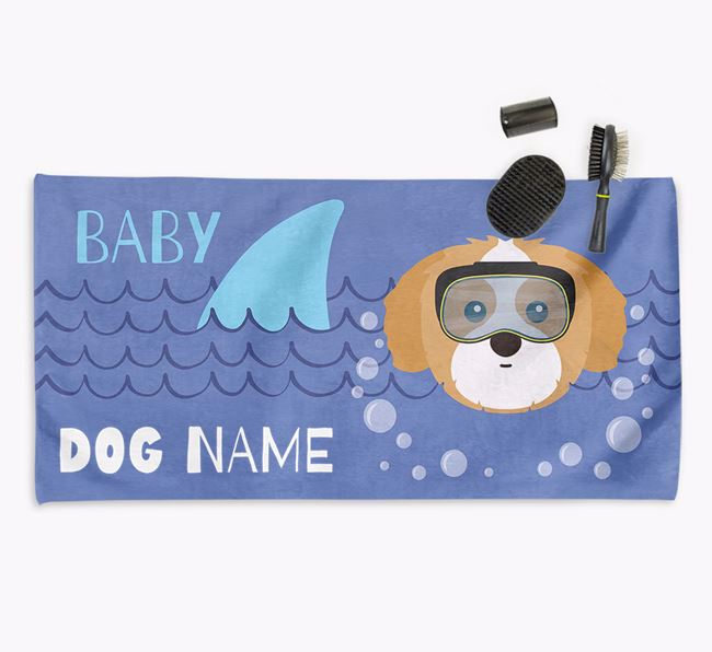 'Baby Shark' Personalized Towel for your Shih Tzu