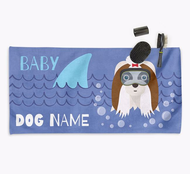 'Baby Shark' Personalised Towel for your Shih Tzu