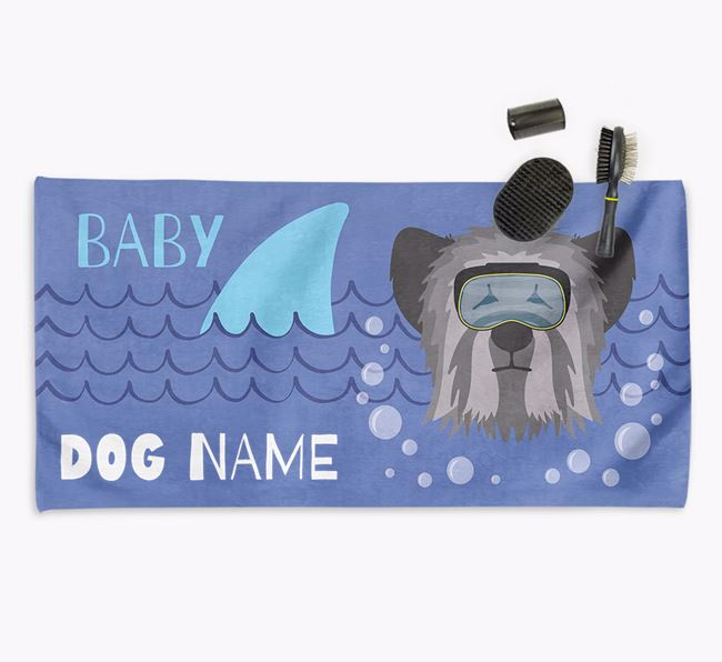 'Baby Shark' Personalized Towel for your Skye Terrier
