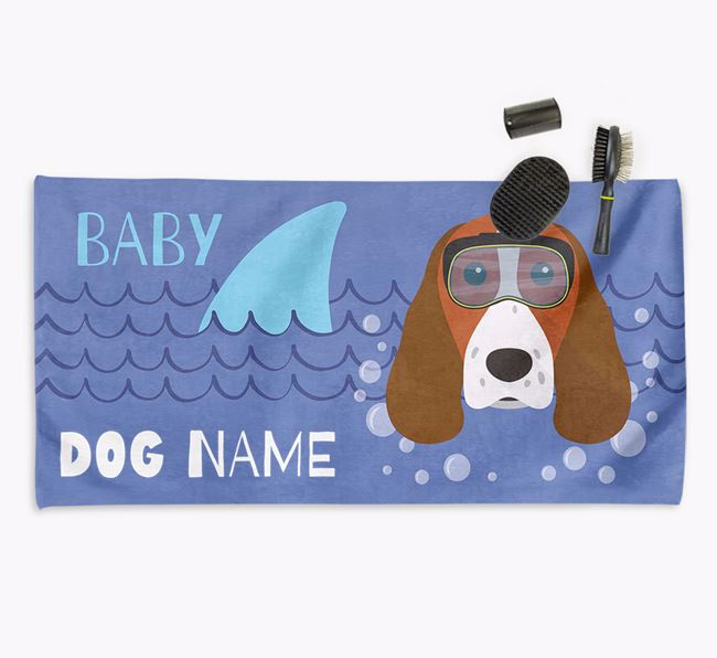 'Baby Shark' Personalized Towel for your Springer Spaniel