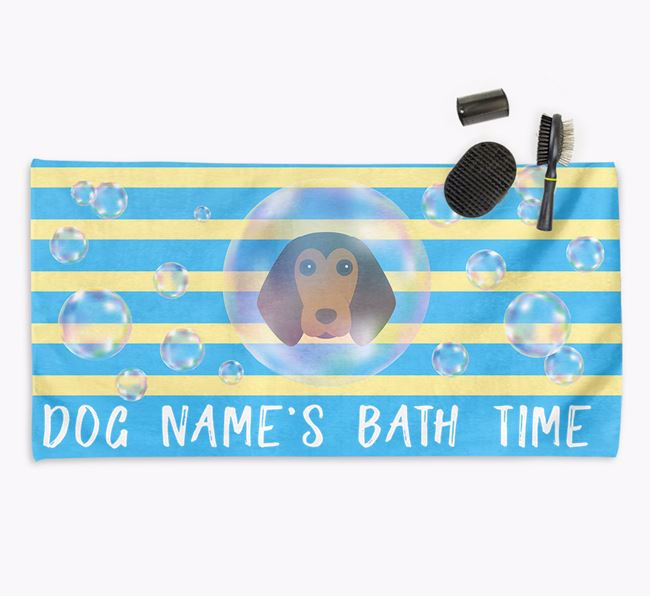 'Bathtime' Personalized Towel for your Beagle