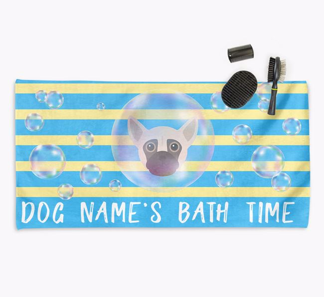 'Bathtime' Personalised Towel for your Chug