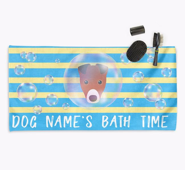 'Bathtime' Personalized Towel for your Fox Terrier