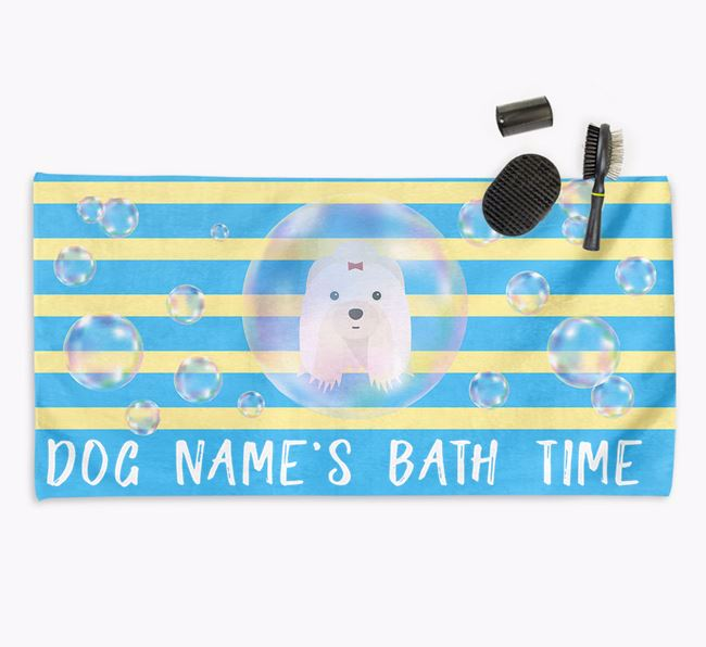 'Bathtime' Personalized Towel for your Shih Tzu