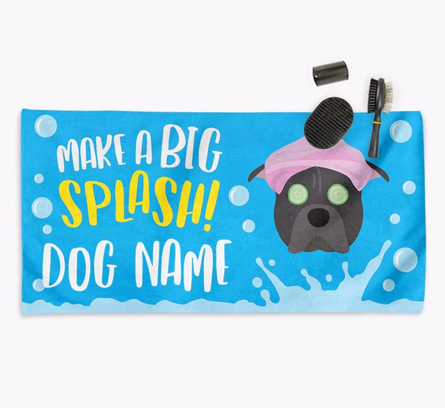 Personalised 'Make a BIG Splash' Towel for your Pit Bull Terrier