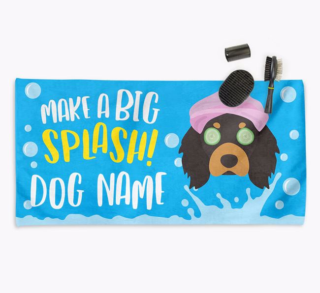 Personalised 'Make a BIG Splash' Towel for your Cavalier King Charles