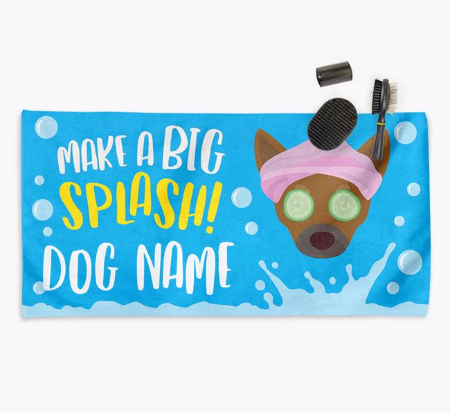 Personalised 'Make a BIG Splash' Towel for your Chihuahua