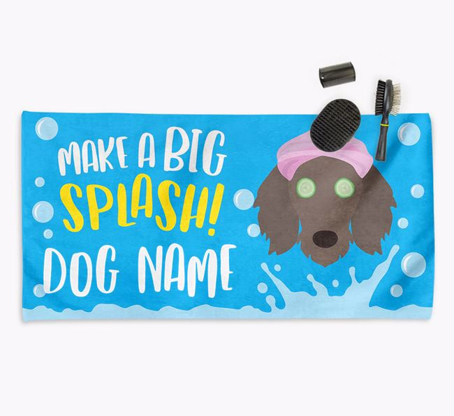 Personalised 'Make a BIG Splash' Towel for your Dachshund