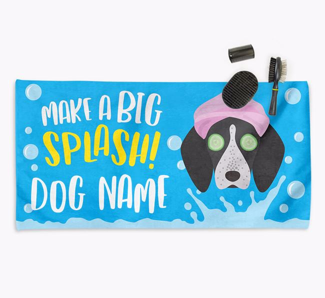 Personalised 'Make a BIG Splash' Towel for your English Coonhound