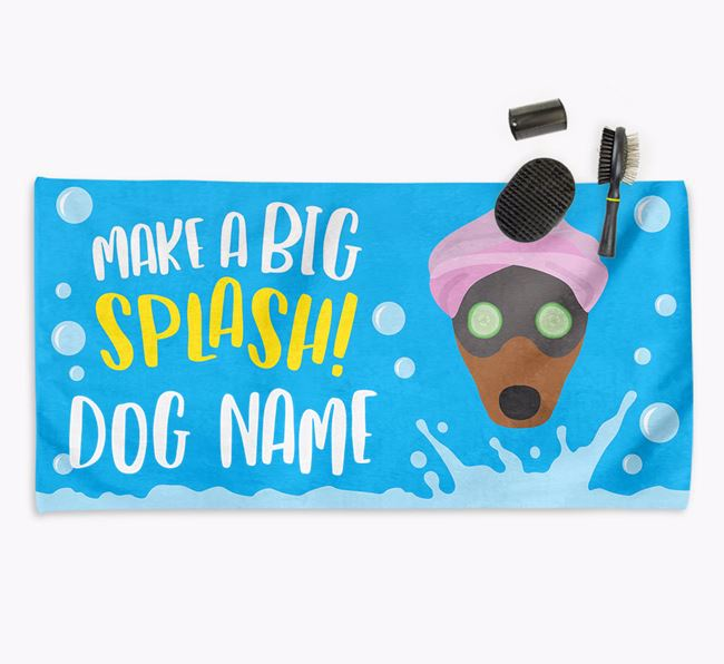Personalised 'Make a BIG Splash' Towel for your Fox Terrier