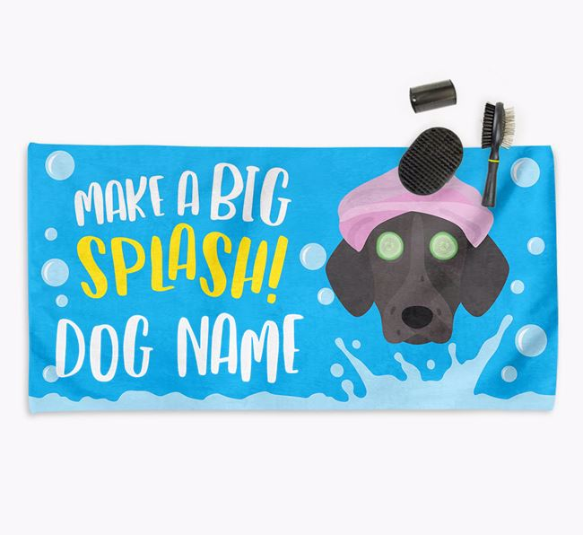 Personalised 'Make a BIG Splash' Towel for your Shorthaired Pointer