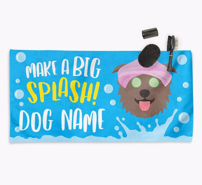 Personalised 'Make a BIG Splash' Towel for your Glen Of Imaal