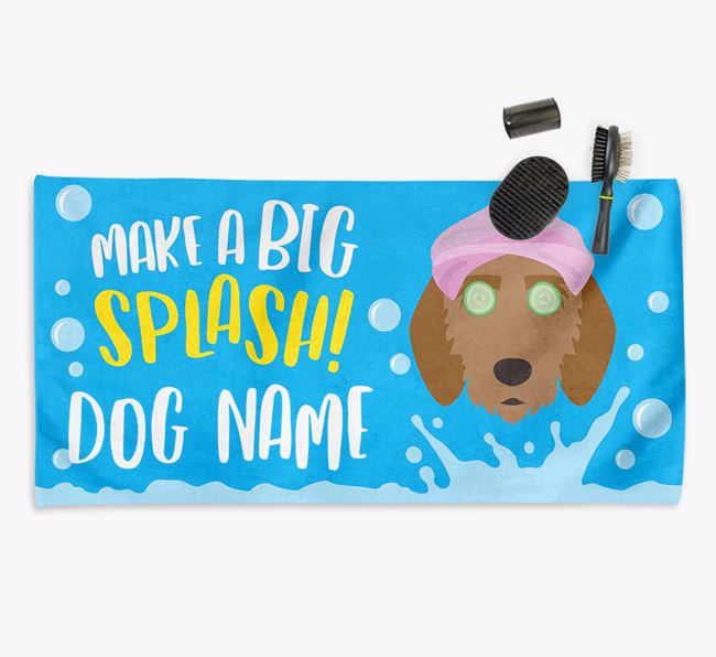 Personalised 'Make a BIG Splash' Towel for your Griffon Fauve