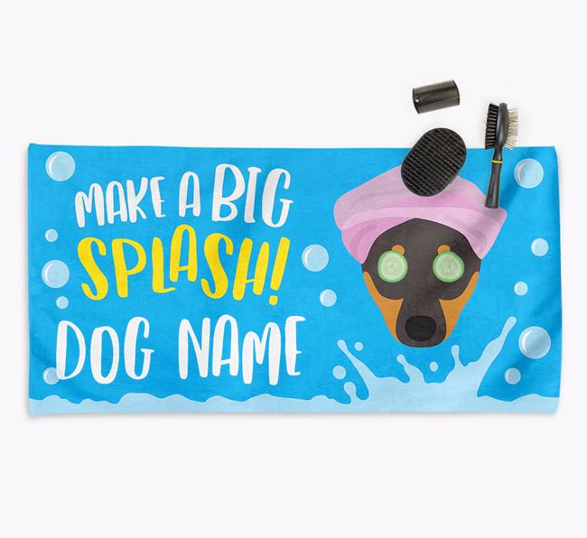 Personalised 'Make a BIG Splash' Towel for your Dog