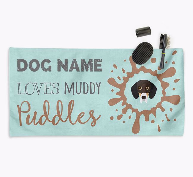 'Muddy Puddles' Personalised Dog Towel for your Bassador