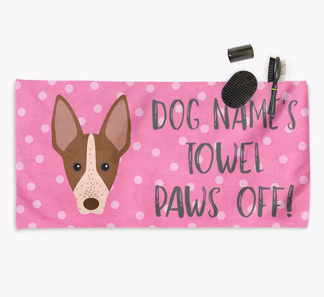 'Paws Off' Dog Towel for your American Hairless