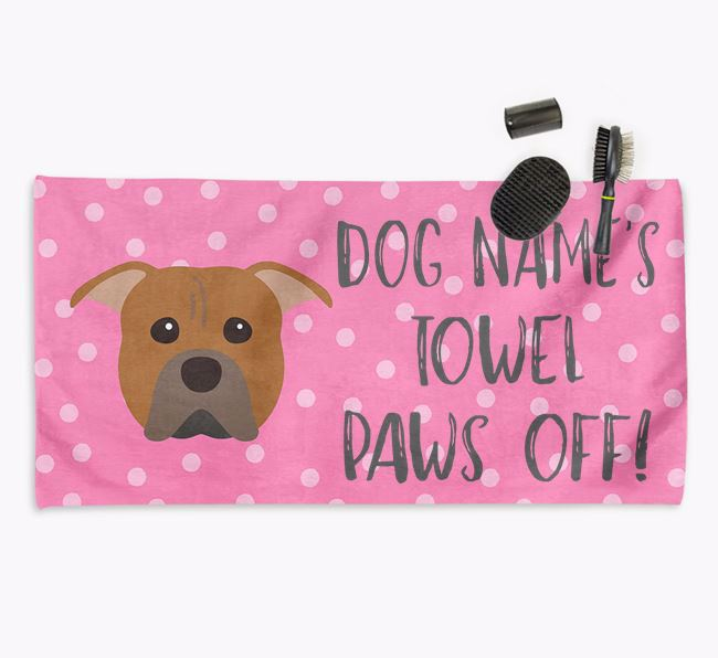 'Paws Off' Dog Towel for your Pit Bull Terrier