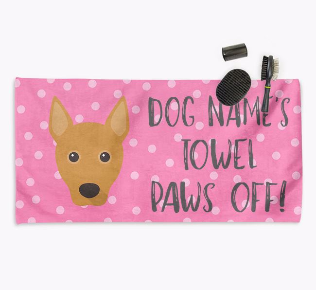 'Paws Off' Dog Towel for your Basenji