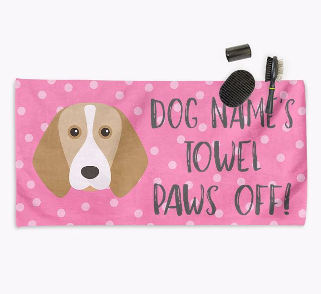 'Paws Off' Dog Towel for your Beagle
