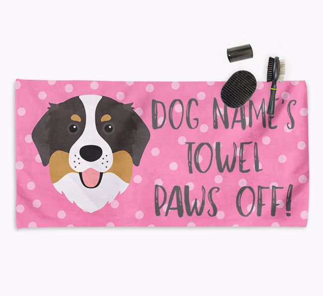 'Paws Off' Dog Towel for your Bernese