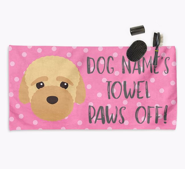 'Paws Off' Dog Towel for your Bich-poo
