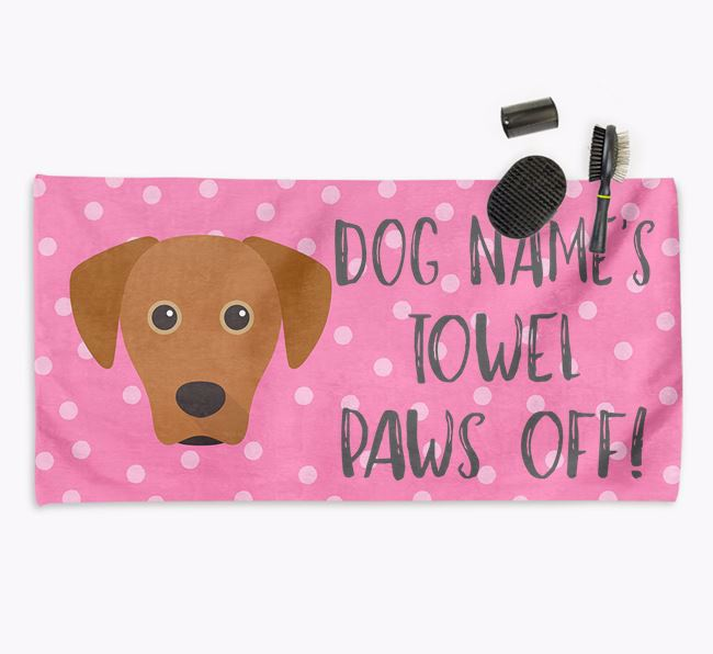'Paws Off' Dog Towel for your Blue Lacy