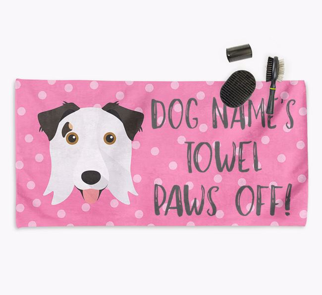 'Paws Off' Dog Towel for your Border Collie